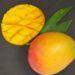 Mangos auf schwarzem Untergrund