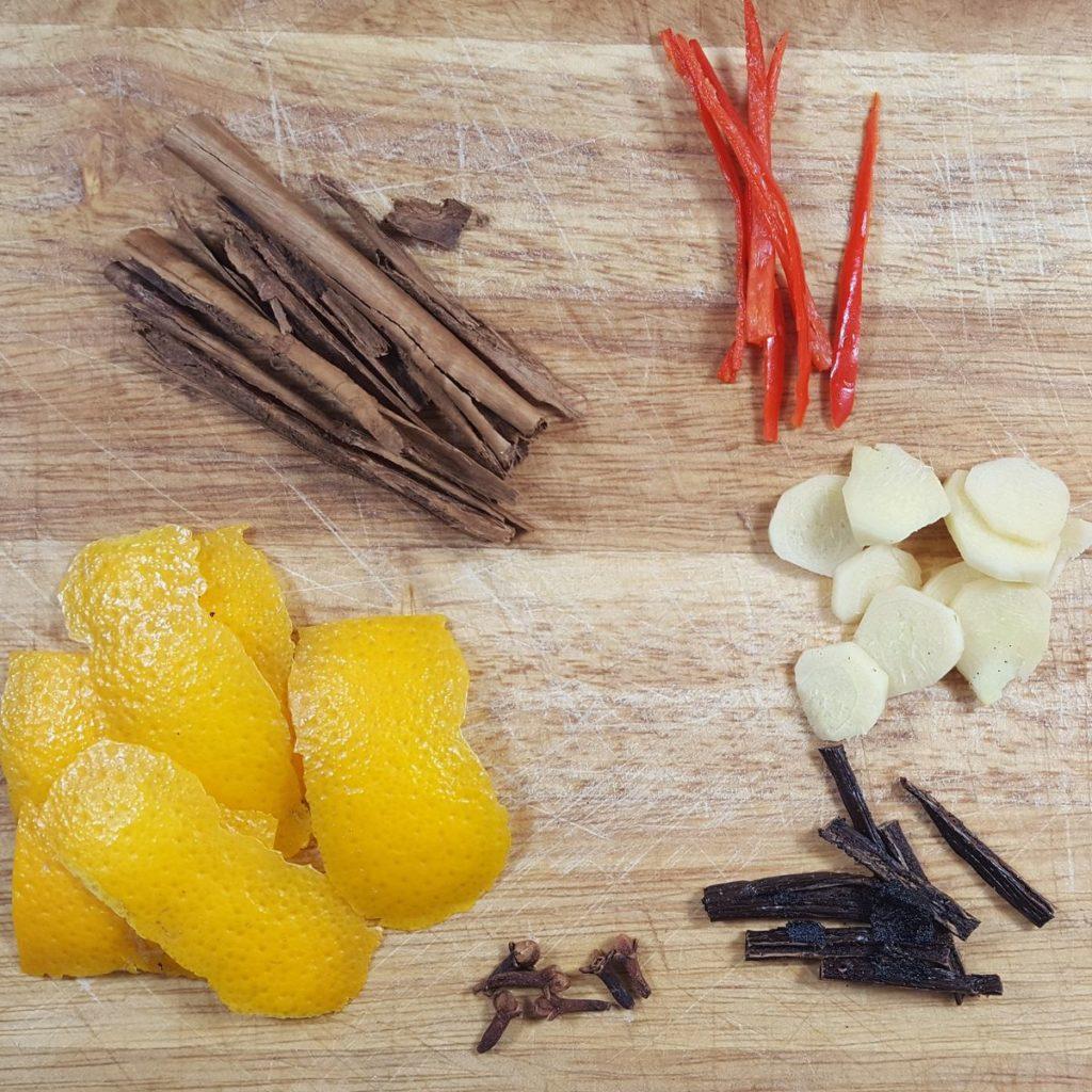 Gewürze für süß-saure Kürbis-Pickles