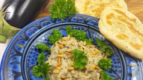 Baba Ganoush (Auberginen-Sesam-Dip)